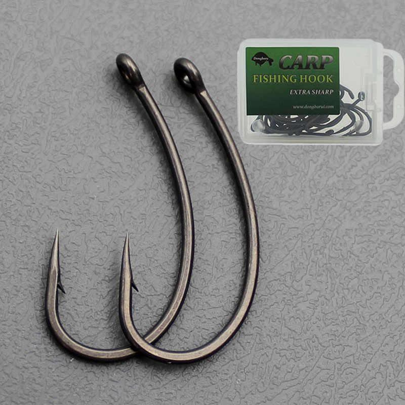 10pcs Box High Carbon Steel Carp Hooks Baitholder Fishing Hook Jig Head Barbed Curve Shank Gripper Fishhooks Fit For Competition Fishhooks Aliexpress