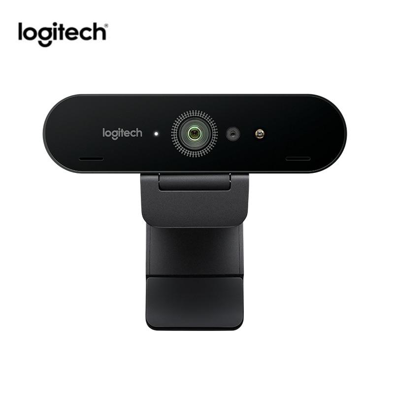 Câmera de videoconferência ultra hd 1080p com micphone logitech c1000e brio 4 k webcam grande angular