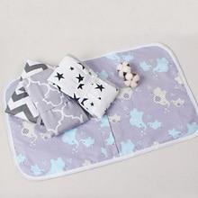 Matelas pliable imperméable pour bébé 50x70cm   Matelas lavable à langer pour enfants, coussin de lit réutilisable en coton dessin animé