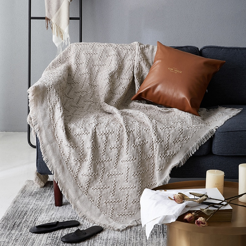 FSISLOVER ins Nordic Soft Throw Travel Manta Blanket For Bed Sofa National Style Blanket Slipcover Cobertor for Plane Travel