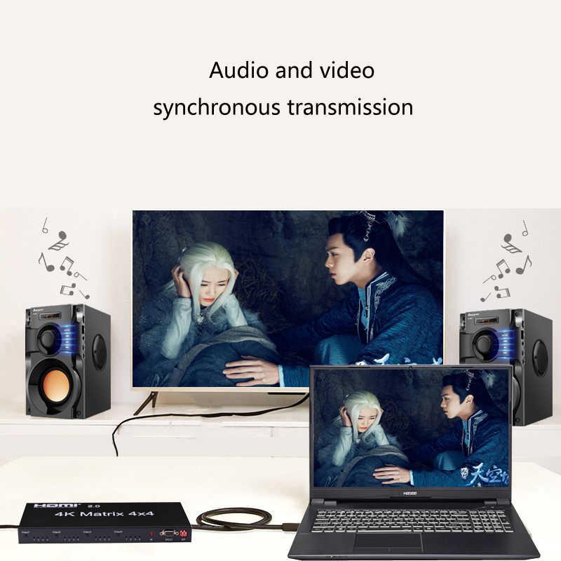 4x4 Hdmi 2 0 Matrix 4k 60hz 1080p Conmutador Divisor 4 Entradas 4 Salida Convertidor Rs232 Edid Interruptor Para Ps4 Xbox Pc Salida A Tv Hdtv Aliexpress