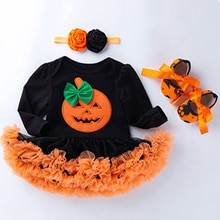3pcs/set Toddler Rompers Halloween Costume Baby Girl Intant Baby Shower Gift Tutu Halloween Chirstma