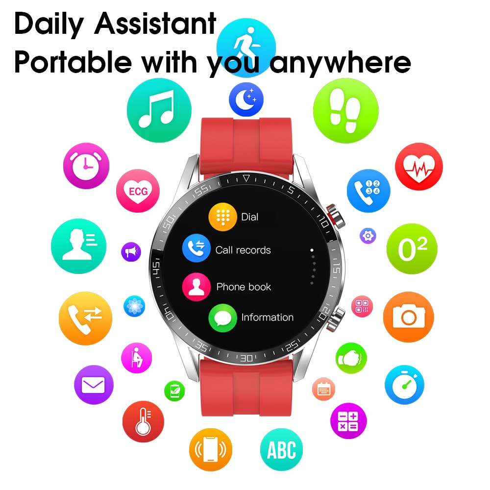 Men Women Smart Watch Bluetooth Call For Samsung Gear Huawei Xiaomi IPhone IP68 Waterproof Watch ECG+PPG Heart Rate PK L8 L9 L11