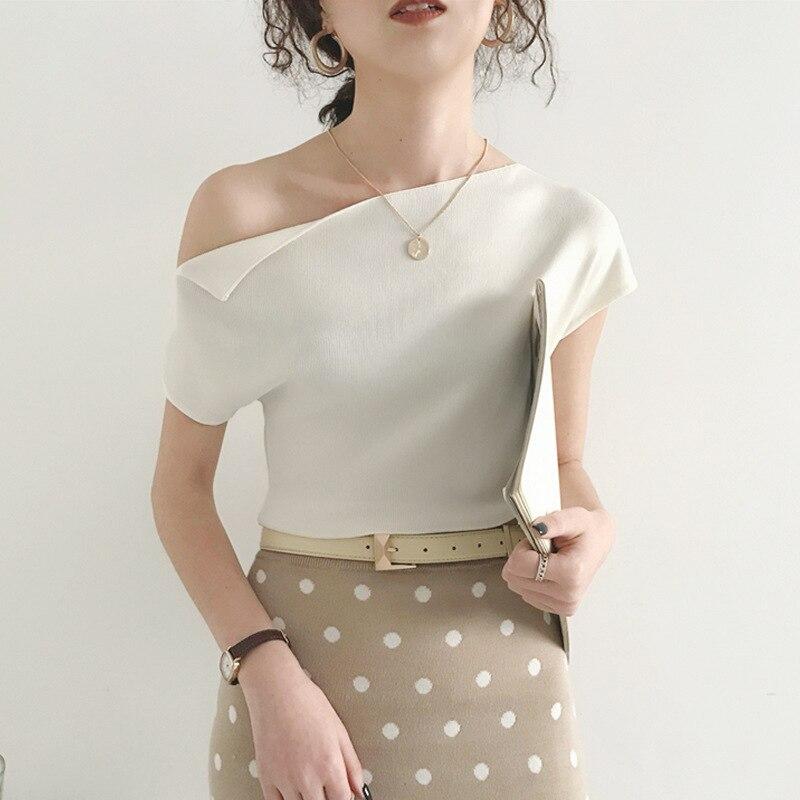 2020 moda de verano camiseta mujer señora lvory camiseta