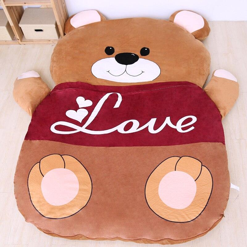 الكرتون الدب فراش أريكة استرخاء السرير مناسبة للأطفال الحصير الحصير جميل الإبداعية غرفة نوم طوي أريكة السرير للنوم