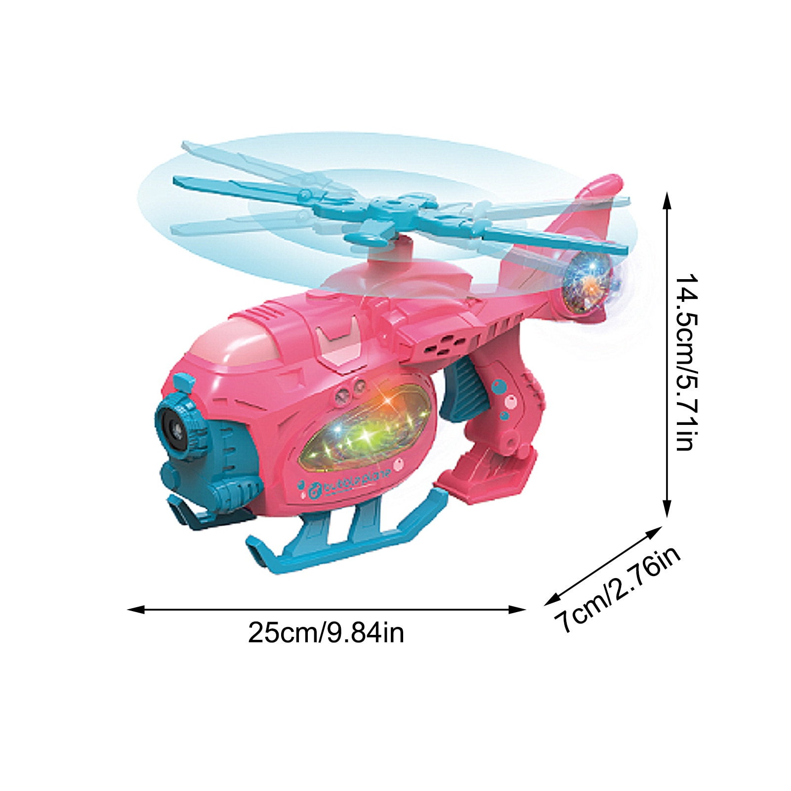 Funny Magic Bubble Blower Machine Music Light Movable Helicopter Bubble Toy Soap Water Outdoor Kids Toy Gift Summer  - buy with discount
