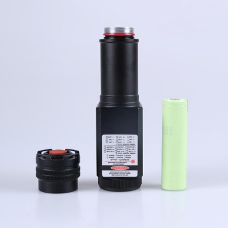 Waterproof Focusable 635nm 638nm Orange Red Dual Beam Laser Pointer LED Torch enlarge