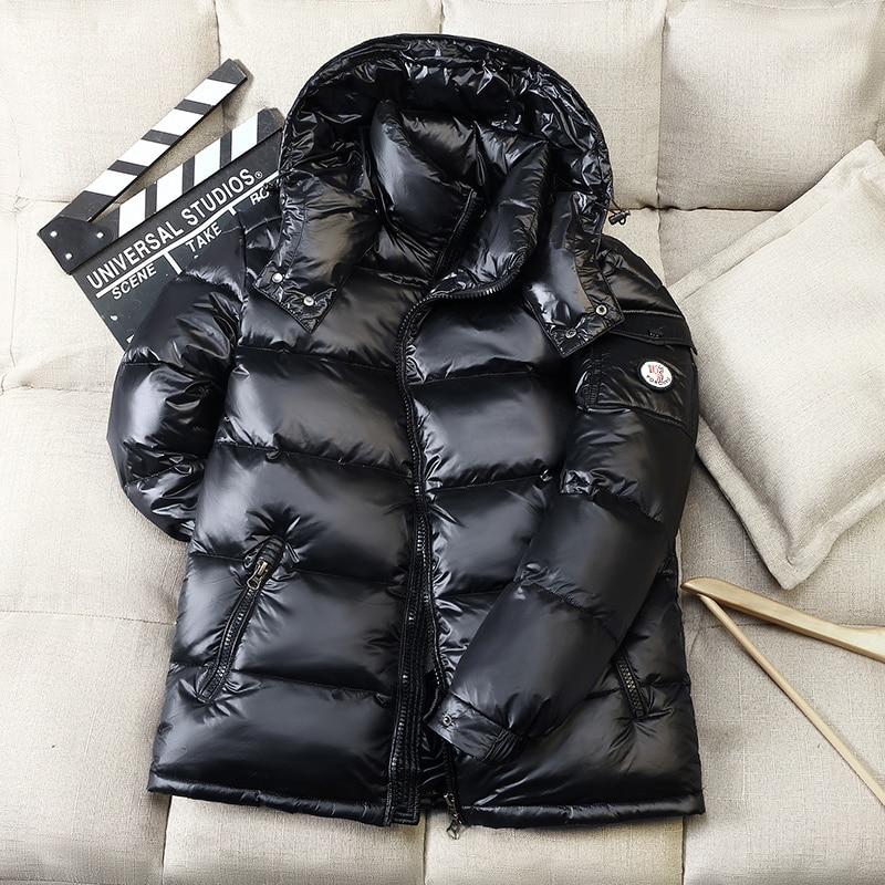 2021 Winter New Men's Hooded Casual Down Jacket Thick Warm Men's Winter Clothing Down Jackets Parka Overcoat 2008