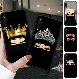 Hijab niqab islam Muslimah Girl black soft phone case for Samsung galaxy M 30S A6 A7 2017 2018 A10 A20 E A30S A40 A50 A70 A80