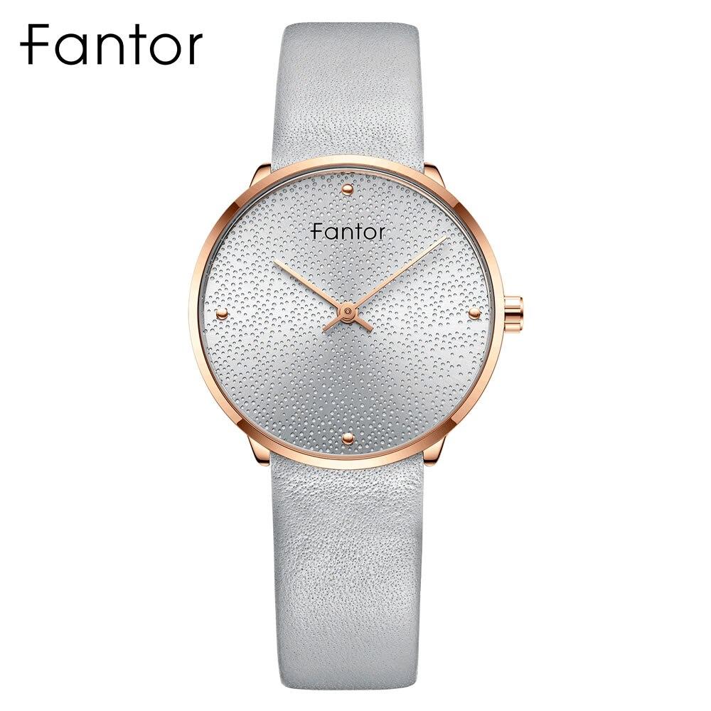 Fantor, relojes elegantes de marca de lujo para mujer, reloj de pulsera de cuarzo de cuero minimalista a la moda para mujer, reloj de pulsera para mujer