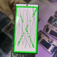 Ponto morto no lcd para samsung galaxy note10 plus lcd n975 n9750/ds com quadro de exibição da tela toque digitador assembléia