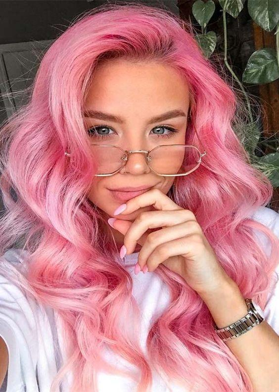 Pink Body Wave 13x4 Lace Front Glueless Wig Pre-Pluck Hairline Virgin Human Hair 180 Density