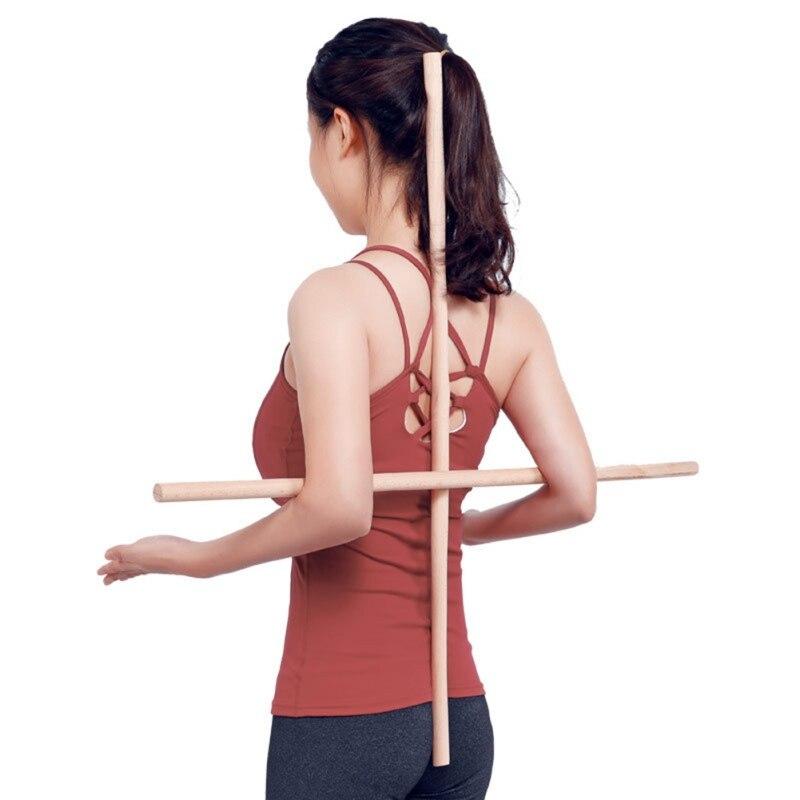 Varillas de Yoga calientes herramienta de estiramiento de cuerpo cómodo para artistas marciales bailarines gimnastas hombros al descubierto espalda abierta Correctiva