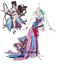 FGO destin Grand ordre Katsushika Hokusai Bikini maillot de bain maillot de bain tenue Anime Cosplay Costumes