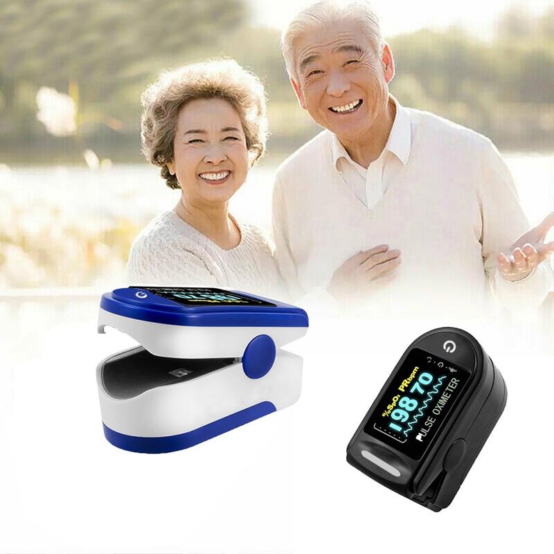 Medical Oximeter Blood Oxygen Saturation Meter Finger SPO2 PR Monitor Health Care Household Digital Fingertip pulse