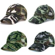 Камуфляжная сетчатая бейсболка для маленьких мальчиков 3-9 лет, Детская кепка на лето-осень для мальчиков и девочек, Повседневные шапки в сетку, детские шапки