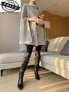 Шерстяные 200% из чистого кашемира винтажное пальто черного цвета с вышивкой и принтом средневековый плащ в стиле ретро Готическая накидка п...