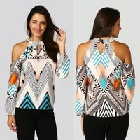 s xl women off shoulder retro geometry blouse bohemia top blouse t shirt %d1%80%d1%83%d0%b1%d0%b0%d1%88%d0%ba%d0%b8 casual long sleeved beach top sun protection f4
