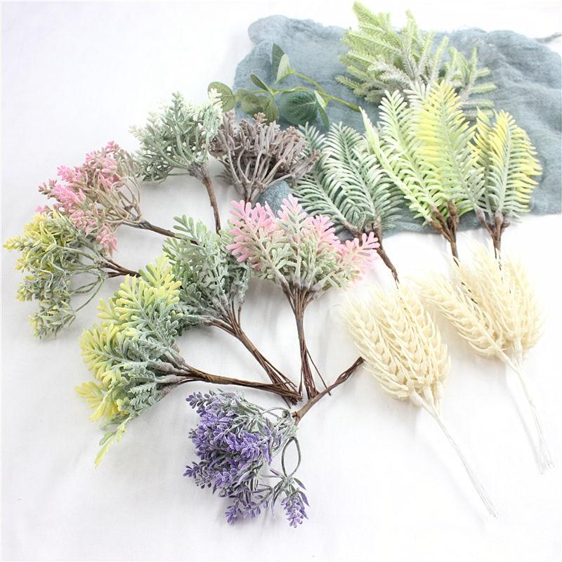 1 Uds./material de Planta Artificial para guirnalda, decoraciones para fiesta de boda, DIY, accesorios para manualidades estilo jardín, decoraciones para el hogar