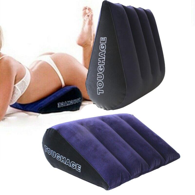 Triângulo mágico travesseiro toughage inflável sexo travesseiro almofada triângulo adulto amor posição móveis casa mágica almofada travesseiro