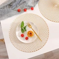 pvc geometric hollow oil resistant non slip kitchen placemat coaster insulation pad dish coffee cup table mat home decor 51076