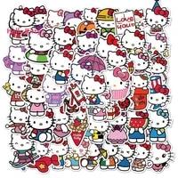 100pcs hello kitty phone case sticker waterproof cute cartoon sticker