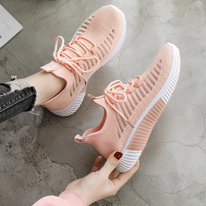 2021 Ladies Summer Breathable Sneakers Comfortable Girls Slow Running Shoes Women Workout Lightweight Sneakers