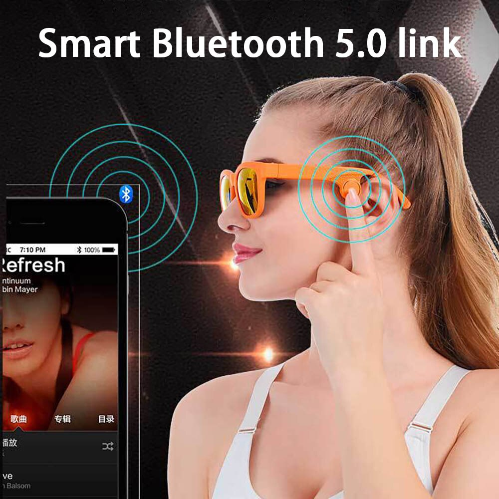 Bone Conduction Headphones Smart Glasses Anti-Blue Light Built-in Invisible Speaker&Microphone for Call Video Conference Driving enlarge