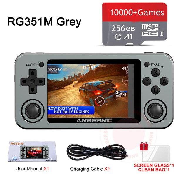 ريترو rg351m ، rg351p لعبة وحدة التحكم ، مقشر سبائك الألومنيوم 5000 ، وحدة تحكم الألعاب المحمولة ، rg351 أذرع التحكم في ألعاب الفيديو