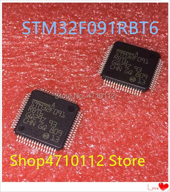 Nuevo 10 unids/lote STM32F091RBT6 STM32F091 RBT6 LQFP-64 IC