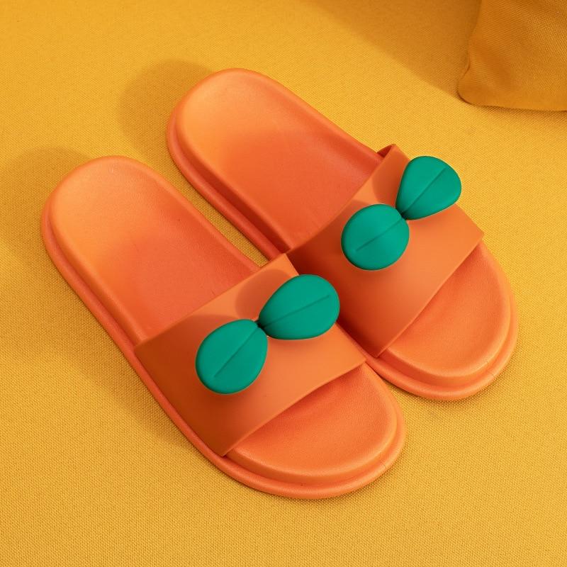Zapatillas de verano para mujer, lindas zapatillas con dedos abiertos, sandalias antideslizantes para mujer, Zapatillas de casa de baño de dibujos animados para mujer