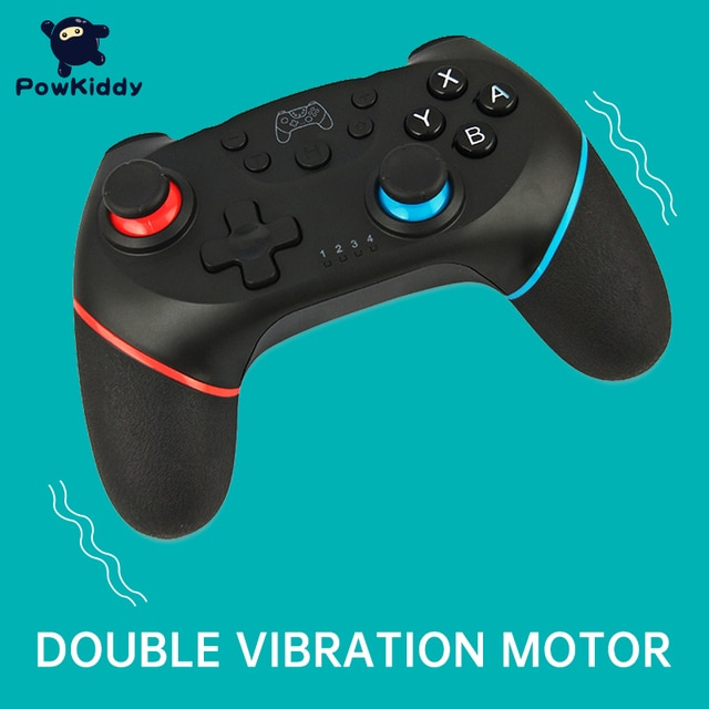 POWKIDDY For Switch NS Game Wireless Bluetooth Vibration Controller Remote control lever 8