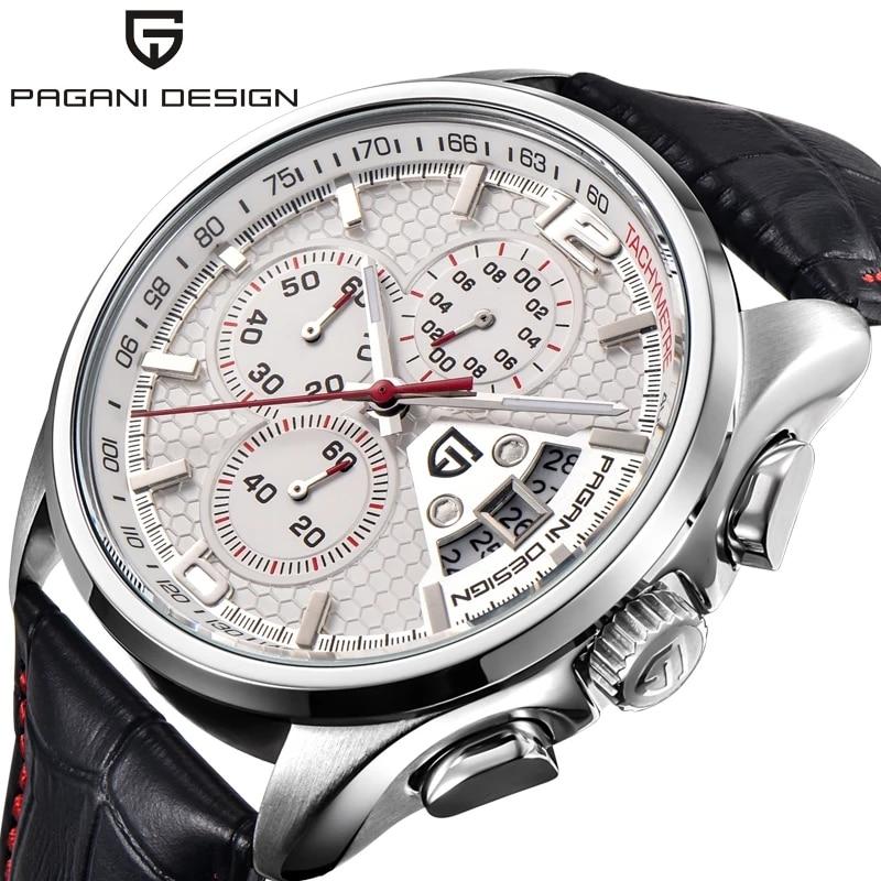 2021 PAGANI DESIGN Men Quartz Watches Luxury Brands Fashion Movement Military Watches Leather Quartz Watches Relogio Masculino