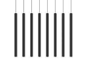 Nordic Pendant Lights Long Tube Aluminum Black Hanging Kitchen Light Length Adjustable Home Hotel Hall Lighting Lamp