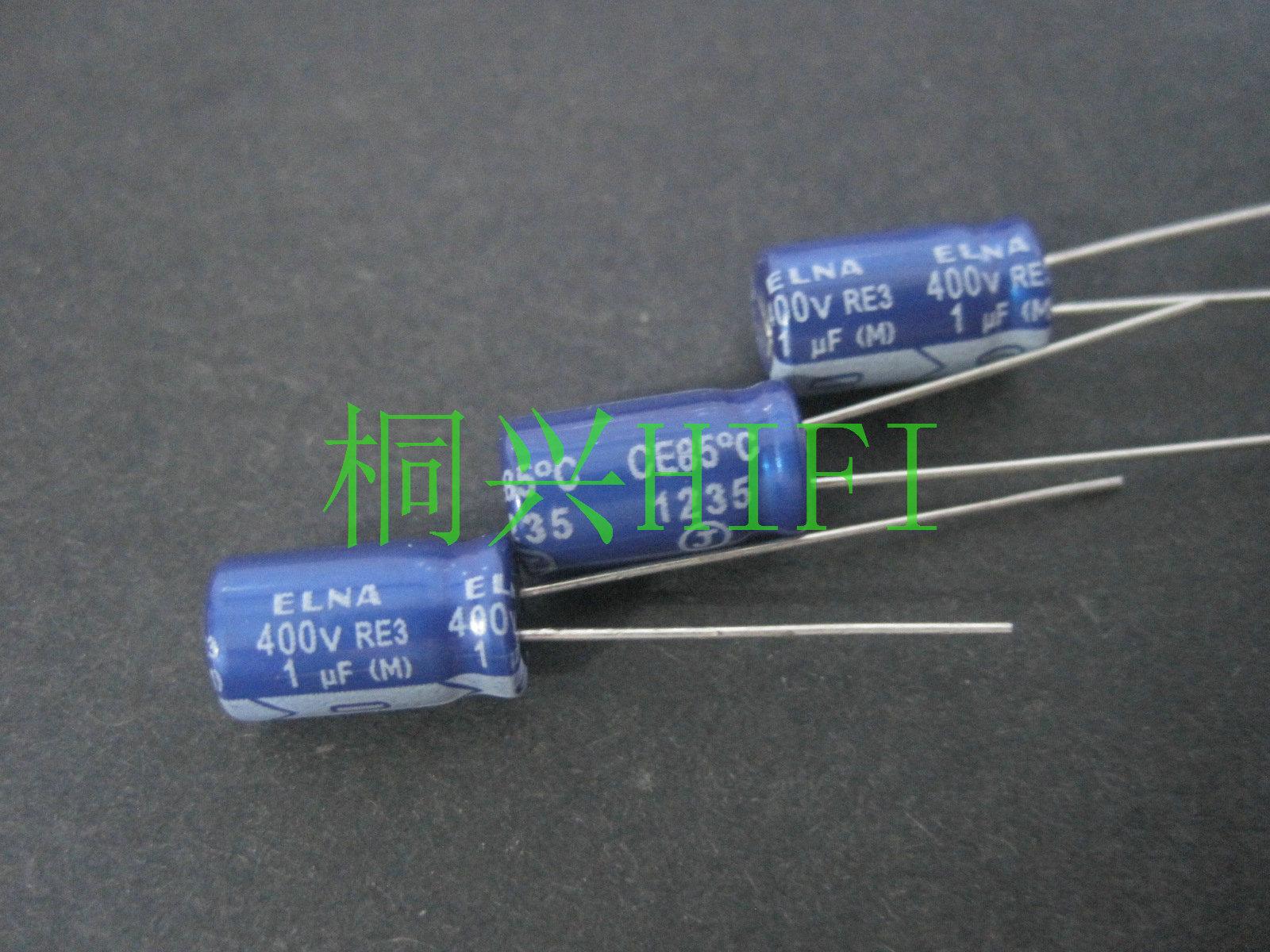 50 Uds nuevos ELNA RE3 400V1UF 6,3X11 MM de audio condensador electrolítico 1 uF/400 V bata azul 1UF 400V re3 400v 1uf