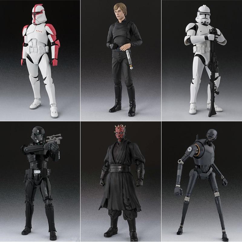 15 سنتيمتر SHF سلسلة حرب النجوم فيجما لوك Skywalker عمل الشكل Anakin Jedi فارس الأسود المنقولة Modle تمثال دمية لعبة للشباب