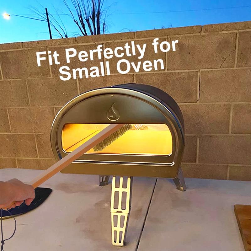 Духовка для пиццы с медной щетиной и латунной деревянной ручкой