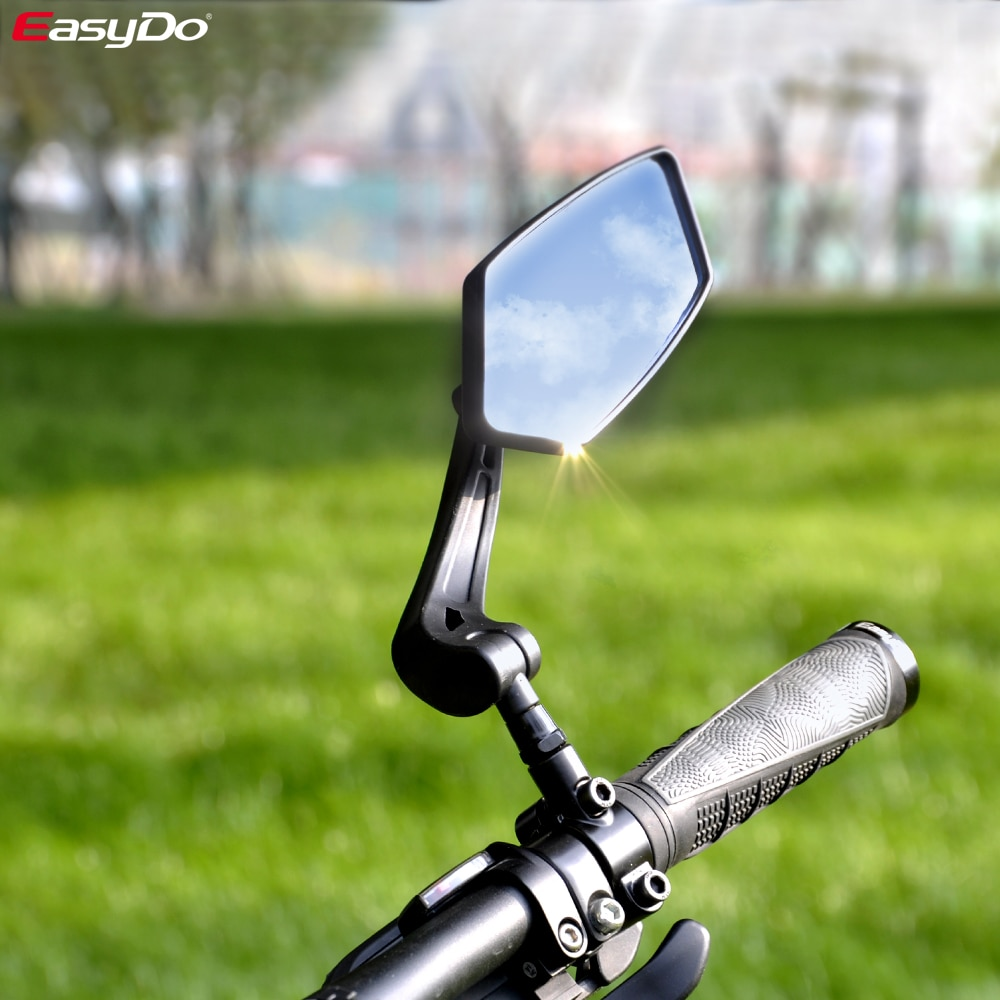 EasyDo Bicycle Rear View Mirror Bike Cycling Wide Range Back Sight Reflector Adjustable Left Right Mirror