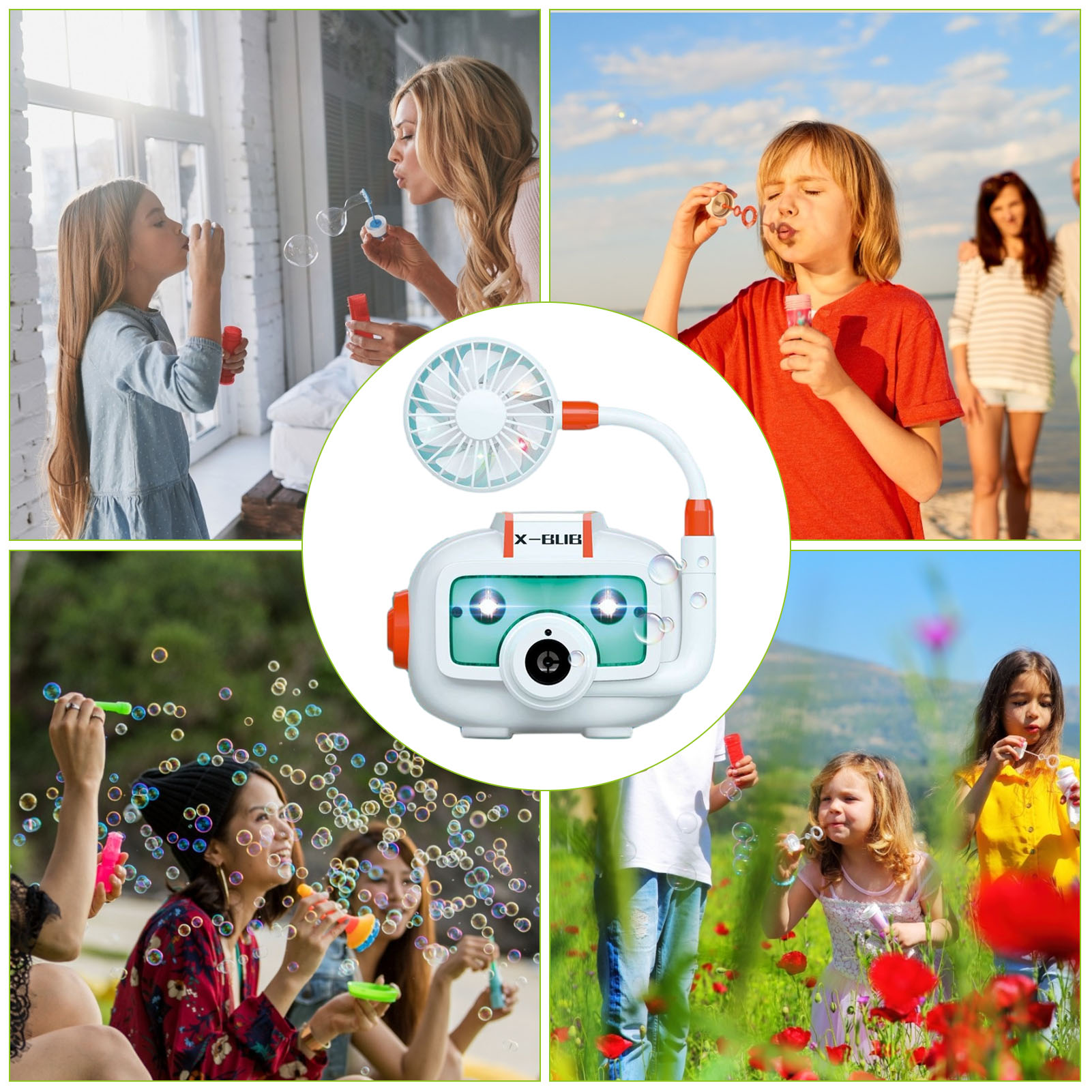 Summer Funny Kids Electric Bubble Machine With Fan Camera Bubble Maker Toy Parent-child Interactive Game Outdoor Toys Gifts  - buy with discount