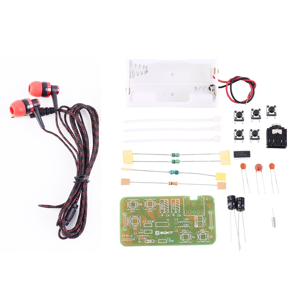 DIY Kit FM стерео радио модуль с гарнитурой Регулируемый 76-108 МГц беспроводной приемник DC 3V