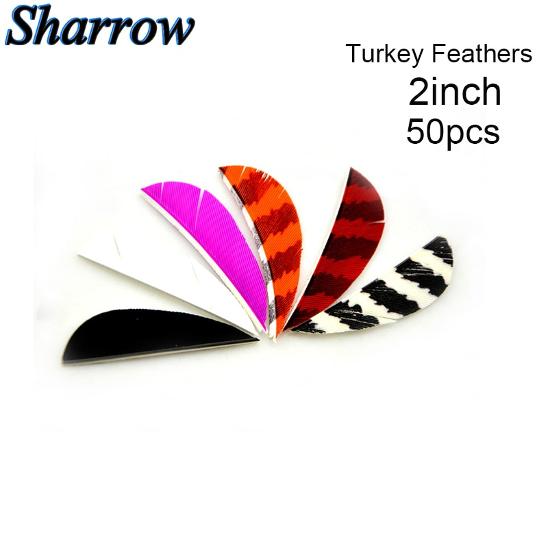 50 Uds 3 pulgadas plumas de pavo Pluma Real flecha Vans para Flecha DIY fletchs pluma flecha accesorio RW Pluma Real