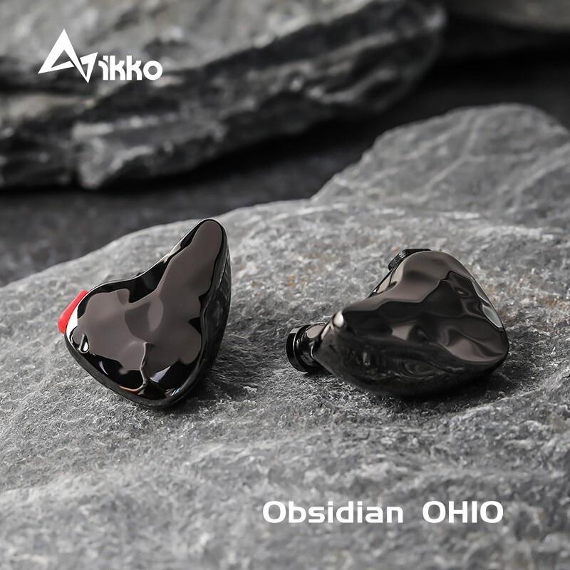 Ikko Obsidian OH10 1BA + 1DD внутриканальные Hi-Fi наушники-вкладыши, музыкальные наушники Knowles Sonion BA Monitor Hi-Fi Fever, съемный кабель, вкладыши в уши для наушник...