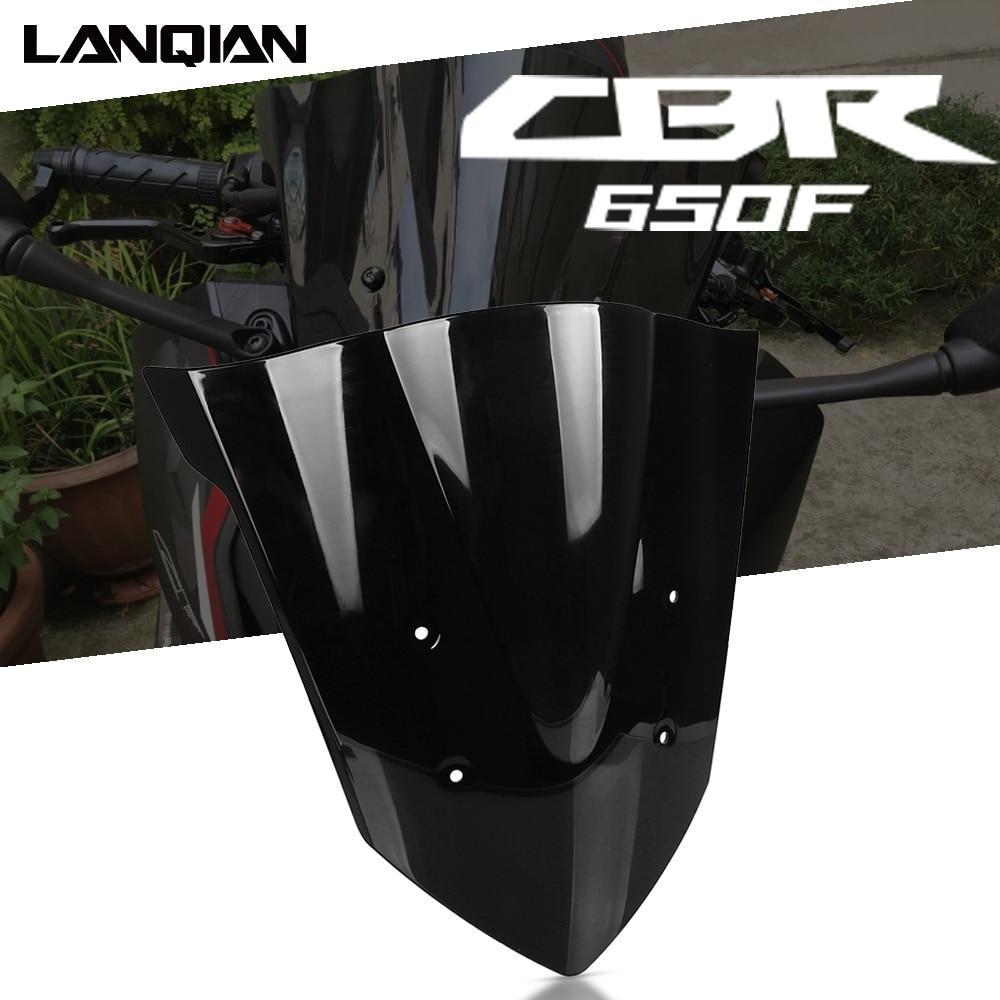 Motorcycle Black Front Screen Windshield Windscreen Parts For HONDA CBR650F CBR 650 F 650F 2014 2015 2016 2017 2018 Accessories
