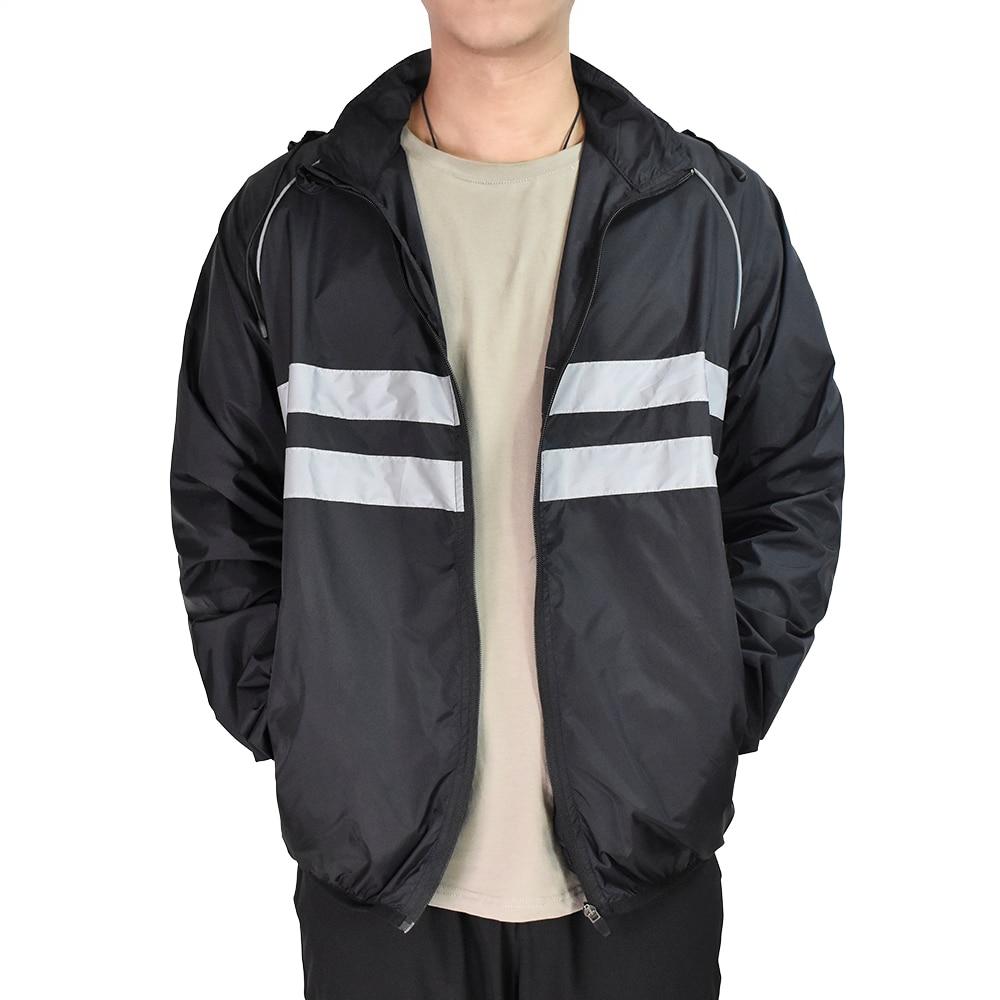 WOSAWE Thin Hooded Caps Reflective Running Jackets Windproof Water Rain Repellent Cycling Windbreaker Coat Bike Sports Jackets