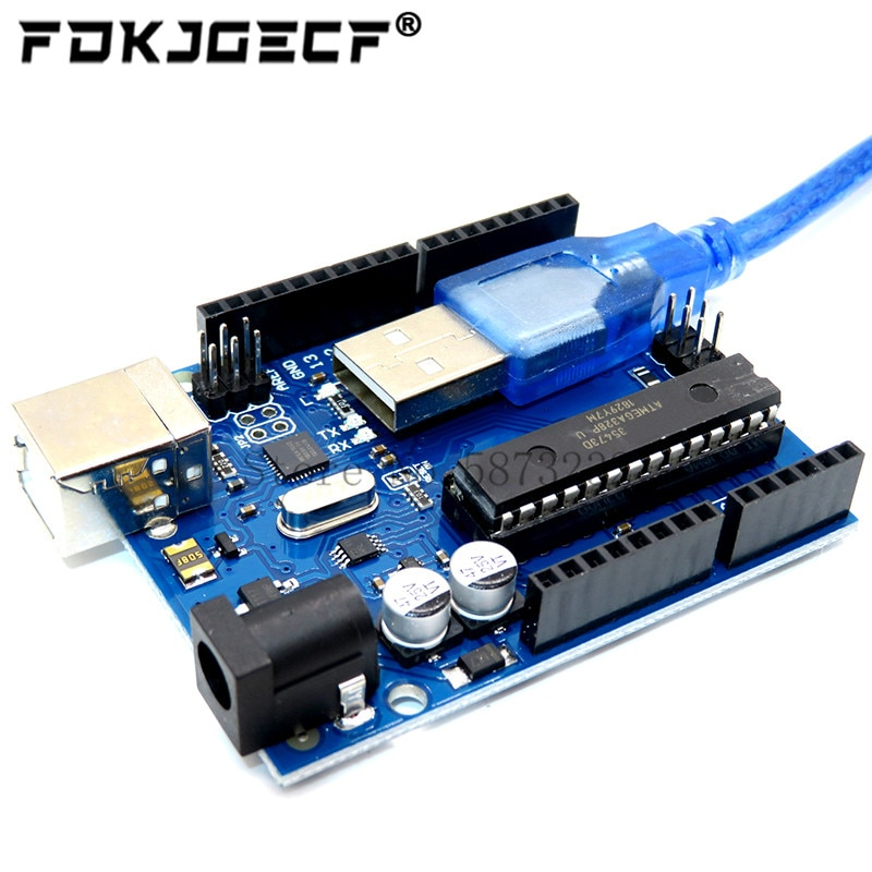 For UNO R3 Official ATMEGA16U2+MEGA328P Chip For Arduino UNO R3 Development board + USB CABLE