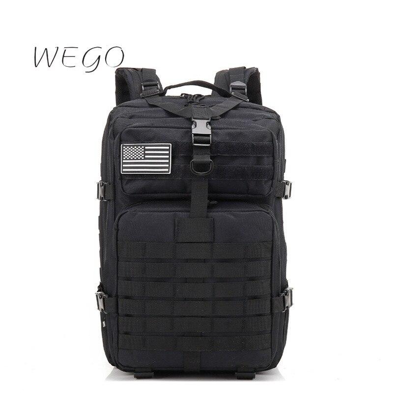 Тактический рюкзак большой вместимости 50 л, Мужской Дорожный рюкзак, тактический рюкзак, камуфляжный рюкзак, военная сумка 40 л, черный