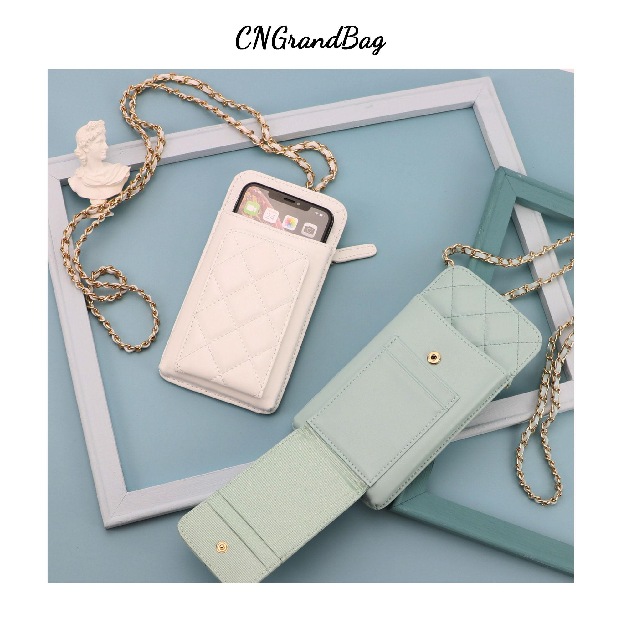Nuevo bolso para teléfono móvil de piel de oveja cosido, Mini bolsa cruzada de cuero genuino para teléfono, bandolera de cuero para mujer
