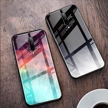 Pour Oneplus 7 T 7 T Pro 6 6T housse en verre trempé luxe Coque de téléphone couleur pour Oneplus 7 T 7Pro 1 + 7 T 6T 1 + 6T Coque