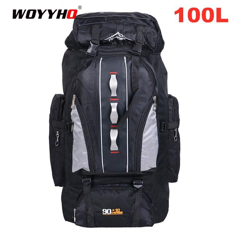 Mochila de escalada al aire libre de 100 l, mochila de gran capacidad para viaje, Camping, pesca, senderismo, mochilas impermeables, Mochila deportiva, bolsas Multi-pock