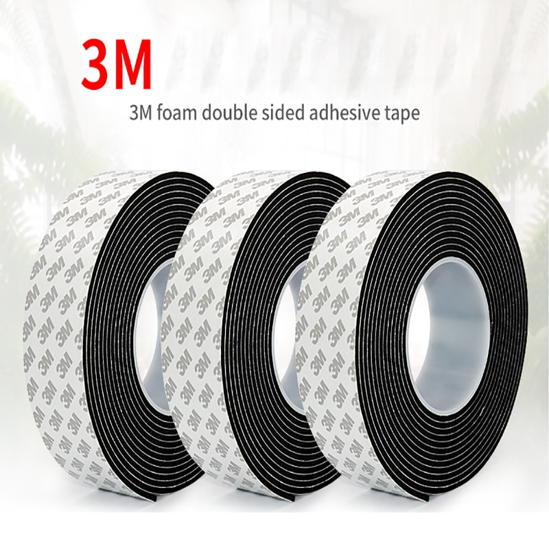 3M strong sponge tape black and white double-sided foam tape, used for automotive exterior parts and household hardware